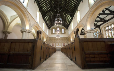 The interior of St James Priory