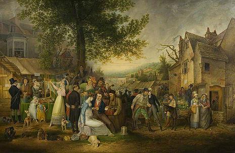 St James' Fair, 1824 by Samuel Colman